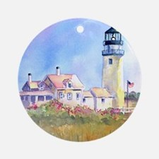 Cape Cod Light Journal Round Ornament
