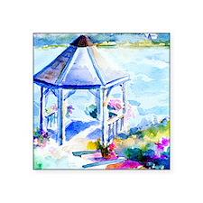 """GazeboAtTheCoveShower Curta Square Sticker 3"""" x 3"""""""