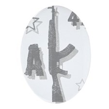 AK-47 Kalashnikov Oval Ornament