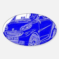Compact Car Sticker (Oval)