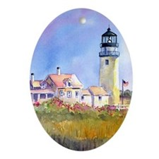 Cape Cod Light Journal Oval Ornament
