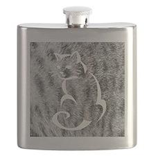 Grey Tabby Flask