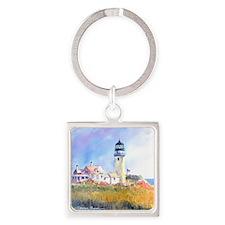 Cape Cod Light Square Keychain
