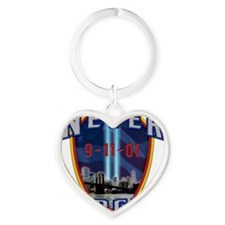 Never Forget Heart Keychain