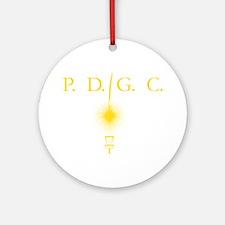 Perth Disc Golf Club Gold Round Ornament