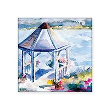 "Gazebo At the Cove Square Sticker 3"" x 3"""