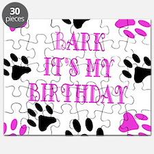 Bark Its My Birthday Pink Puzzle