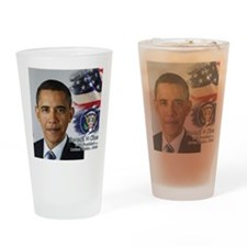 Obama Calendar 001 cover Drinking Glass