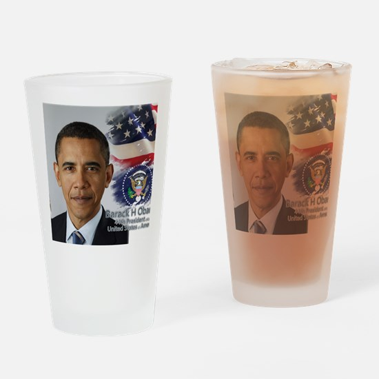 Obama Calendar 001 cover Drinking Glass