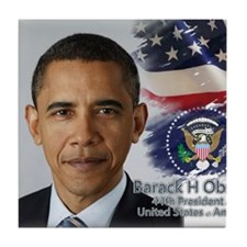 Obama Calendar 001 cover Tile Coaster