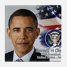 Obama Calendar 001 cover Tile Coaster