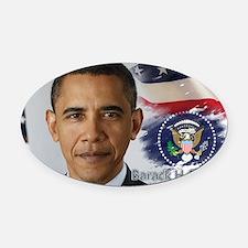 Obama Calendar 001 cover Oval Car Magnet