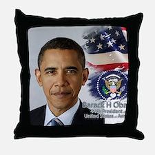 Obama Calendar 001 cover Throw Pillow