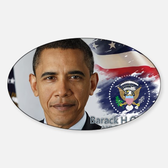 Obama Calendar 001 cover Sticker (Oval)