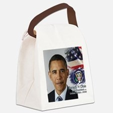Obama Calendar 001 cover Canvas Lunch Bag