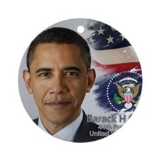 Obama Calendar 001 cover Round Ornament