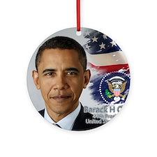 Obama Calendar 001 cover Round Ornament