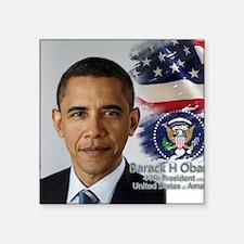 """Obama Calendar 001 cover Square Sticker 3"""" x 3"""""""