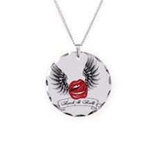 Rock N Roll Winged Lips Necklace