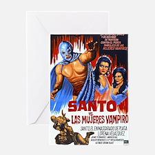 Santo vs. Vampire Greeting Card