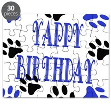 Yappy Birthday Blue Puzzle