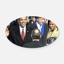 Obama Calendar 001 Oval Car Magnet