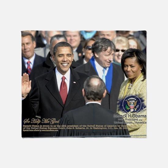Obama Calendar 001 Throw Blanket