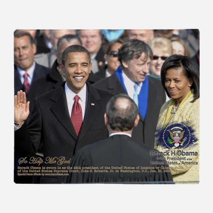 Obama Calendar 001 Throw Blanket