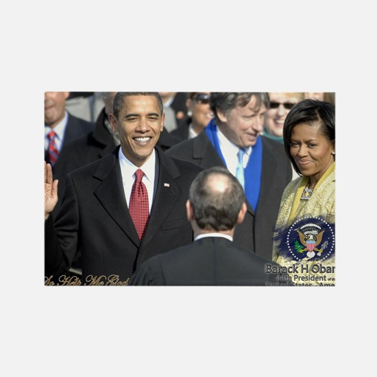 Obama Calendar 001 Rectangle Magnet