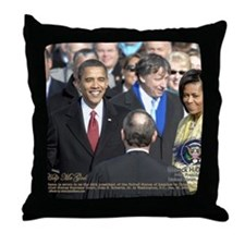 Obama Calendar 001 Throw Pillow