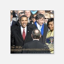 """Obama Calendar 001 Square Sticker 3"""" x 3"""""""