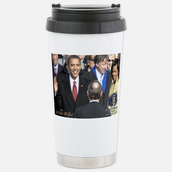 Obama Calendar 001 Stainless Steel Travel Mug