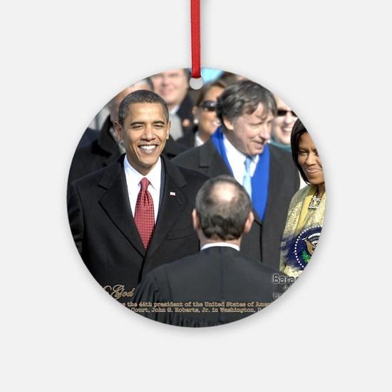Obama Calendar 001 Round Ornament