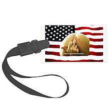 USA National Pride American Flag Luggage Tag
