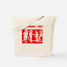 Custom Vintage Fireman Stamp Red Tote Bag
