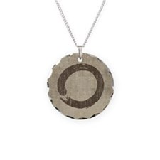 Vintage Enso Symbol Necklace Circle Charm