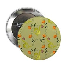 """Olive and Orange Colorful 2.25"""" Button"""