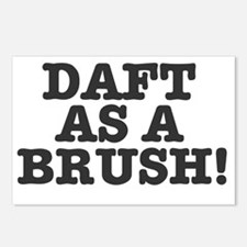 DAFT AS A BRUSH Postcards (Package of 8)