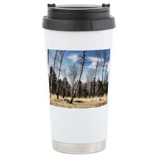 leaning trees Travel Coffee Mug