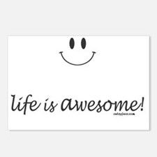 life is awesome Postcards (Package of 8)