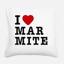 I Love Marmite Square Canvas Pillow