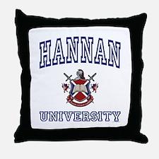 HANNAN University Throw Pillow