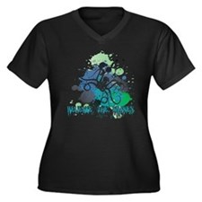 Release the  Women's Plus Size Dark V-Neck T-Shirt