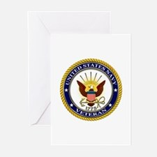 USN Navy Veteran Eagle Greeting Cards (Pk of 10)