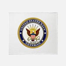USN Navy Veteran Eagle Throw Blanket