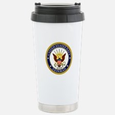 USN Navy Veteran Eagle Travel Mug