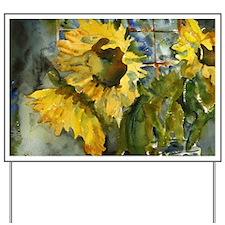 Sunflower Night Yard Sign