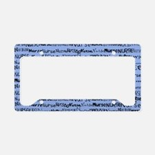 Nurse Nurse Nurse Ceil Blue S License Plate Holder
