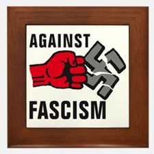 Gegen Nazis 01-2011 F 3c Framed Tile
