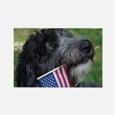 American Doodle Rectangle Magnet